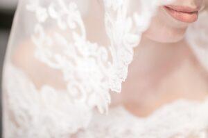 Wearing a Wedding Veil