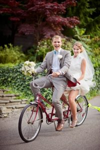 Two Person Push Wedding Bike