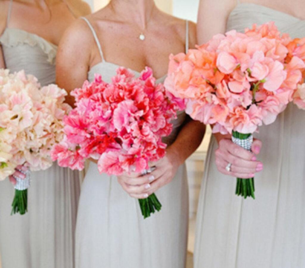 Sweet Peas wedding bouquet