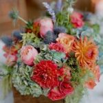 artificial coral colored flowers
