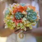 Coral Wedding Flowers for winter
