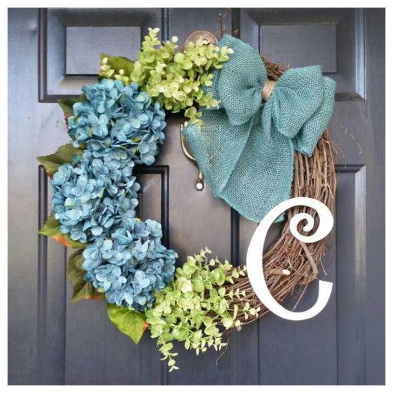 Colorful Monogram Spring Wreaths