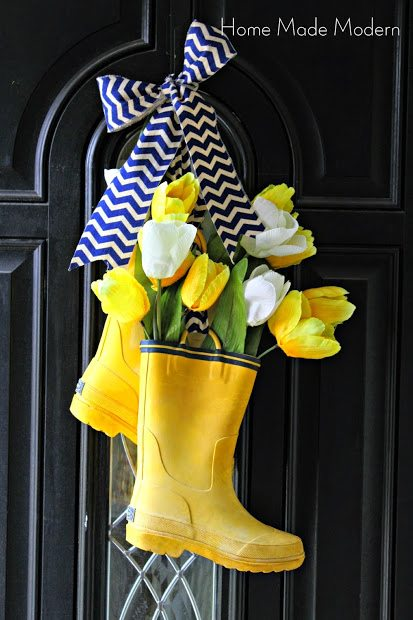 Rain Boots Spring Wreaths