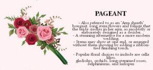 Pageant bridal bouquet