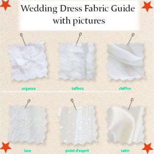 wedding dress fabric guide with pictures