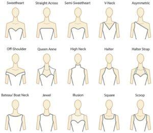 wedding dresses neckline