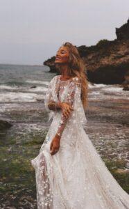 Boho White Wedding Dresses
