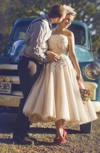 Colored Wedding Dresses by the Wedding Theme