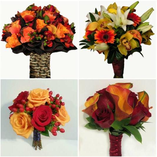 Dahlia Fall Wedding Bouquet Ideas