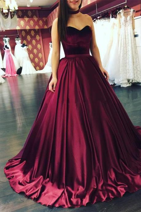 Red Wine Wedding Dress