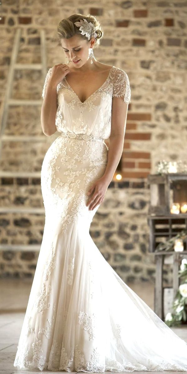 Vintage Style Lace Wedding Dress
