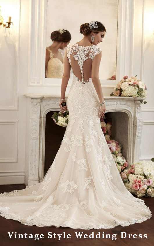 White Wedding Dress Vintage Style