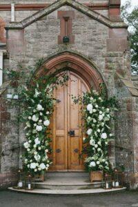 Church Doors & Banisters wedding flowers