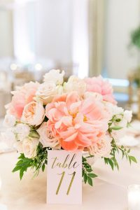 Peony Wedding Flower Centerpiece