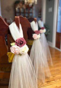Pews & Bridal Aisle flower decoration