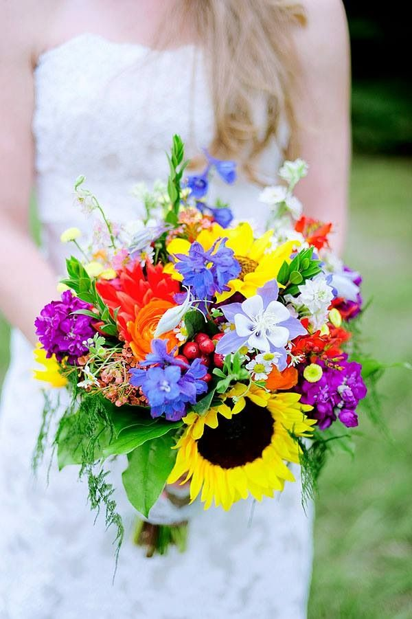 Wedding Bouquet with Columbine