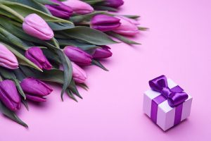 purple tulip gift
