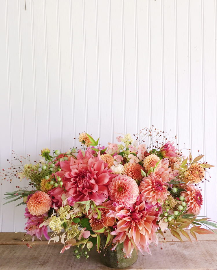 Coral Flowers DIY Home Centerpiece