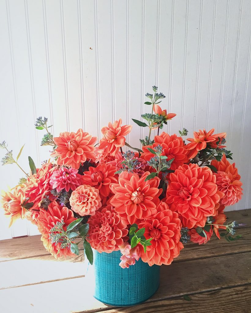 Living Coral Flowers Centerpiece