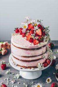 Fruit and Cream Filled Wedding Cakes