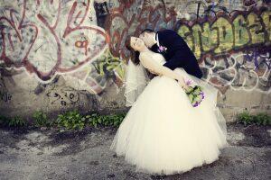 Graffiti Wedding Background
