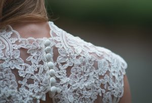 Victorian Wedding Dress Lace Details