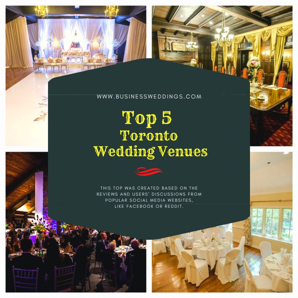 [TOP 5] Toronto Wedding Venues in 2020