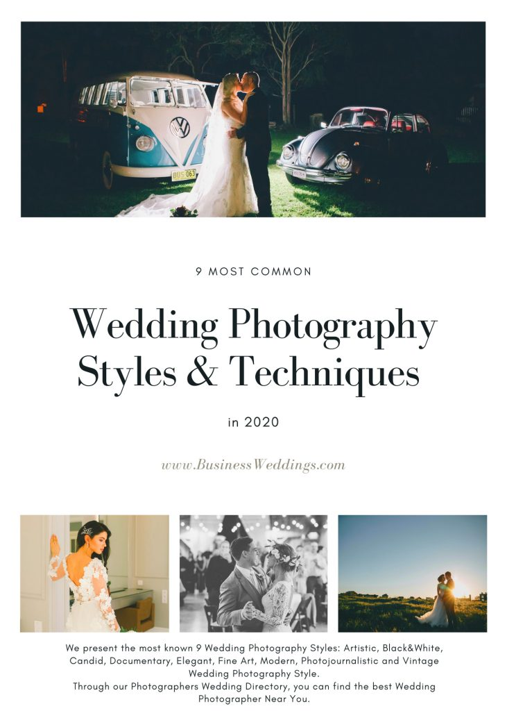 Most Common 9 Wedding Photography Styles BW